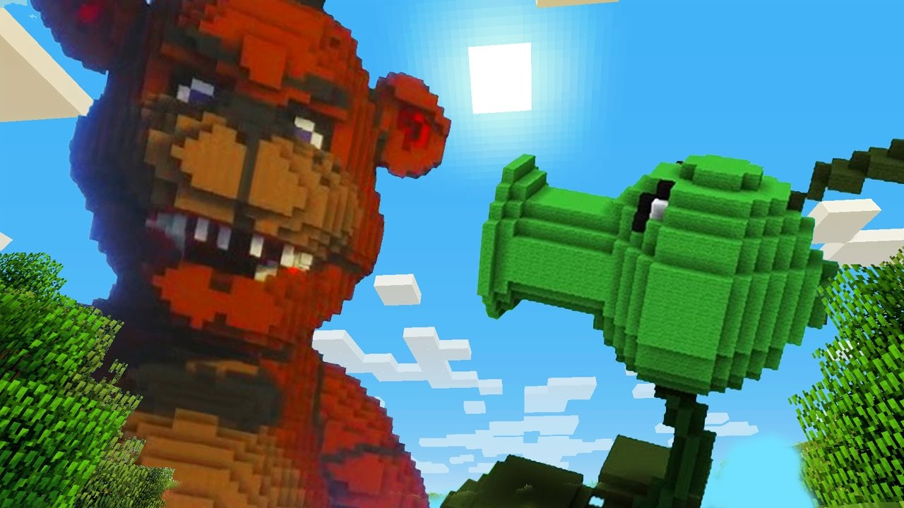 Minecraft vs Plants vs Zombies: PeaShooter KILL GIGA ...