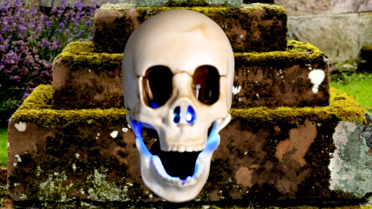 animated talking skull halloween decoration trendyhalloweencom youtube - Talking Skull Halloween