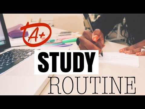 My A+ Study Routine | Law School / Masters / University