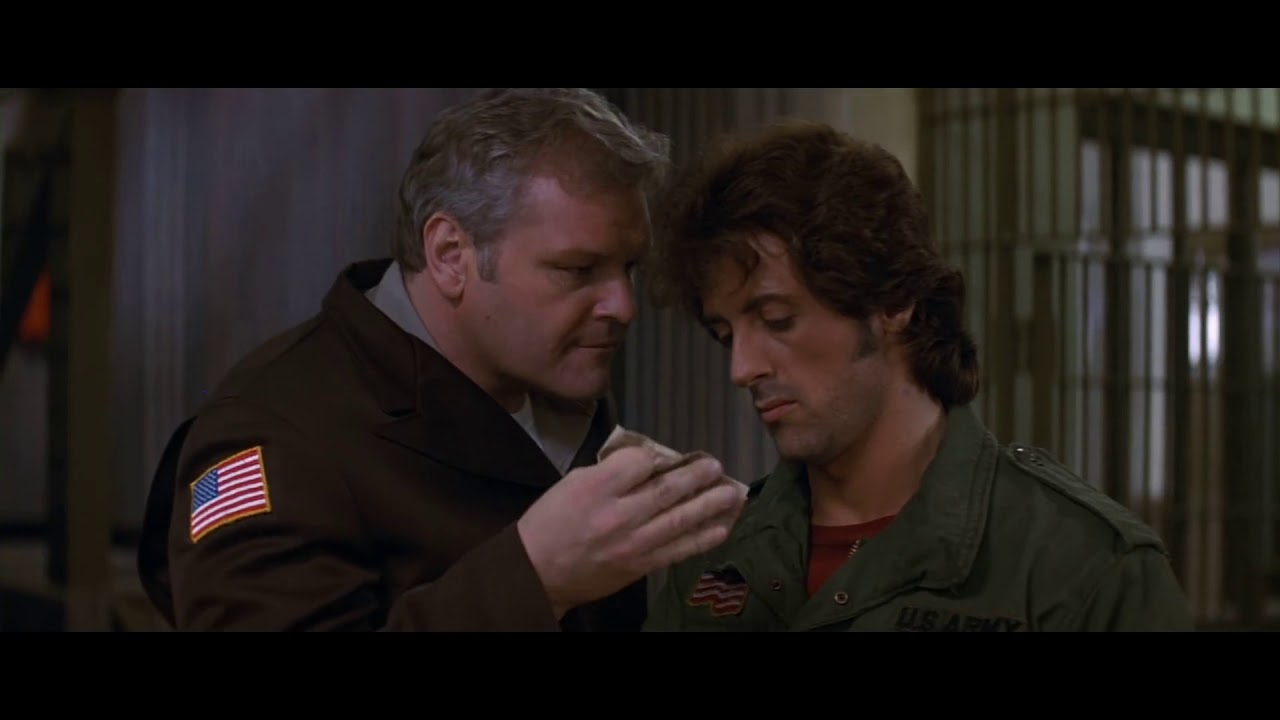 Rambo  First Blood 1982 Fingerprint Scene Police Station