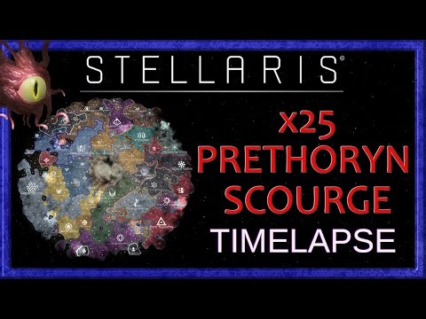 Stellaris : 500 year Timelapse with x25 Prethoryn Scourge endgame [version 2.8.1] (A.I Only) |