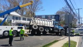 Dump Truck Rollover Recovery in Toms River New Jersey