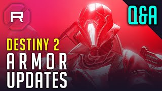 Destiny 2 Armory Updates Q&A