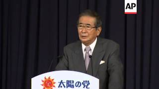 Tokyo's former governor and outspoken nationalist launches new political party
