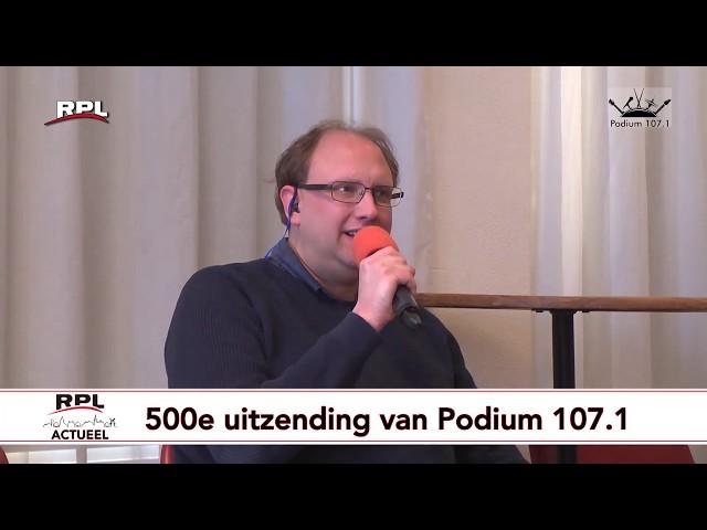 Magische grens bereikt van 500 uitzendingen Podium 107.1