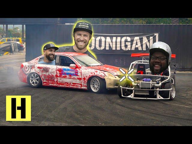 Tandems at Work?? G35 and ShartKart Hoonigan Team Bonding Experience at the Burnyard