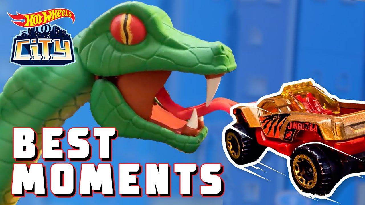 TOP TEN BEST MONSTER FIGHTS!! 🦖 | Hot Wheels City | @HotWheels