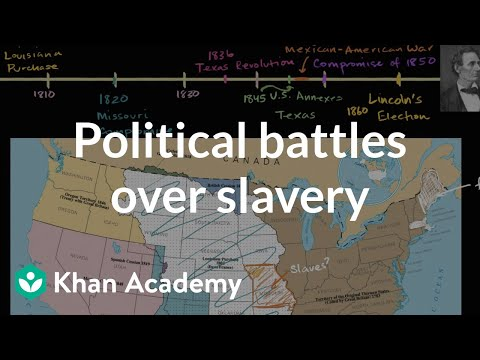 Slavery and Missouri Compromise in early 1800s | US History | Khan Academy