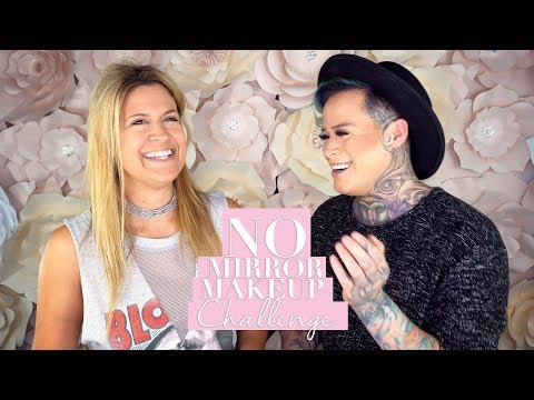 No Mirror Makeup Challenge with Hank and Henry