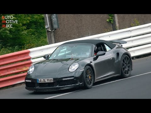 Porsche 911 Turbo Convertible Spied Speeding Serenely At The 'Ring