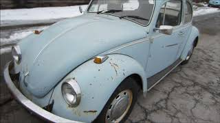 Barn Find 68 Vw Beetle And Engines.