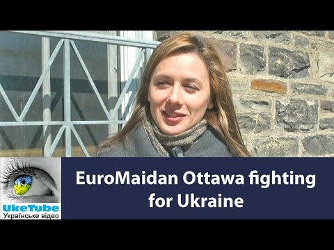 Ukrainians in Ottawa, Canada fight for Ukraine