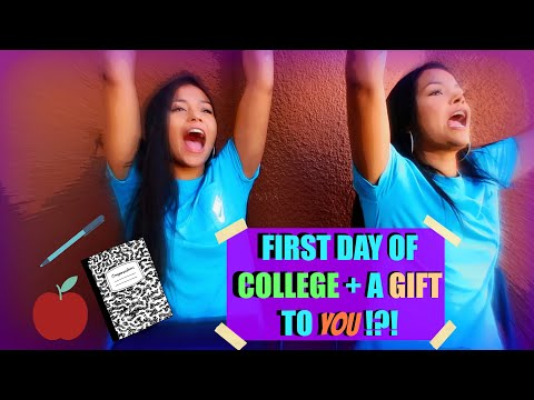 FIRST DAY OF COLLEGE!? + A GIFT TO YOU!!!