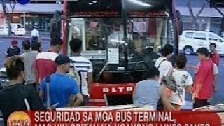 UB: Seguridad sa mga bus terminal, mas hinigpitan na ngayong Lunes Santo