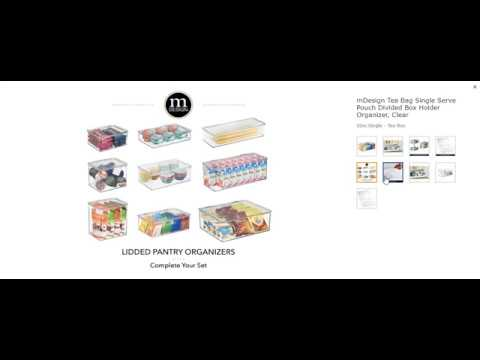 mdesign-tea-bag-single-serve-pouch-divided-box-holder-organizer,-clear