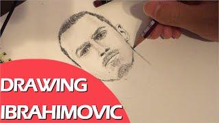 Drawing Zlatan Ibrahimovic ズラタン・イブラヒモビッチ 描いてみた