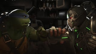 Injustice 2 : Ninja Turtles Vs Bane - All Intro/Outros, Clash Dialogues, Super Moves