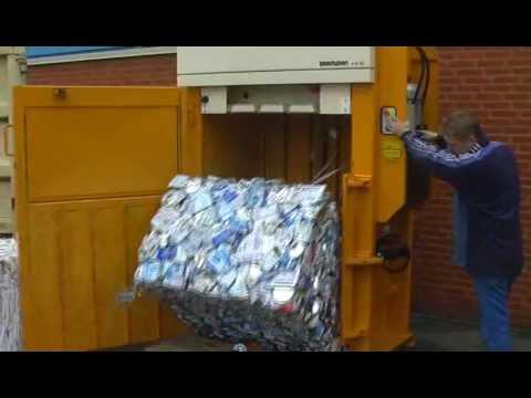 X-Series Baler - Tin Cans - Wastech Engineering