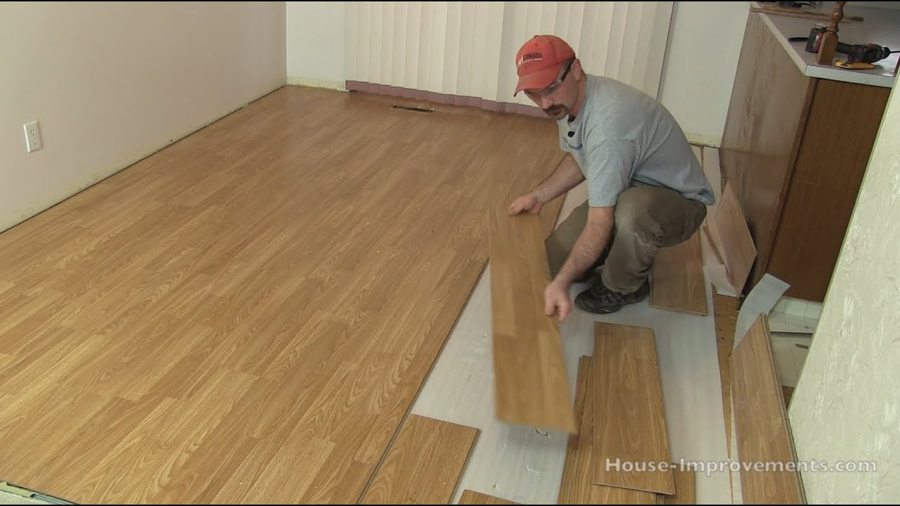 how to remove a section of laminate flooring