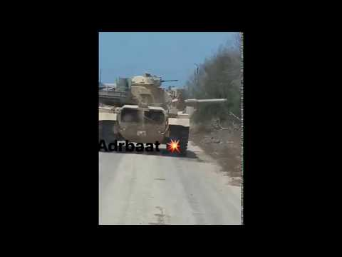 M-60 tank survive direct RPG-7 hit from ISIS during Egyptian military operations in North Sinai