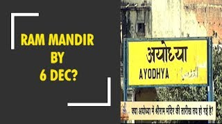 Ayodhya's Ram Temple by December 6th?