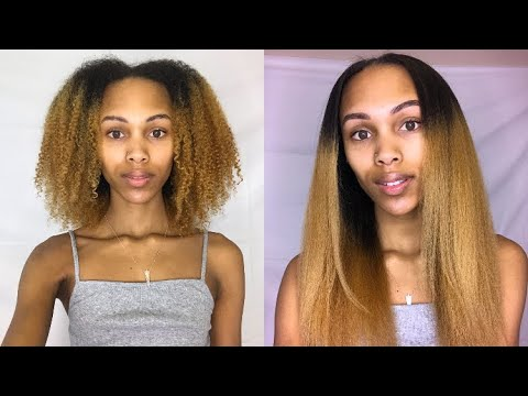 Curly To Straight | Straightening After 3 YEARS 😱 + Trim & Length Check