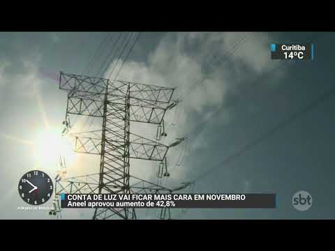 Conta de luz vai ficar mais cara no mês de novembro | SBT Brasil (24/10/17)