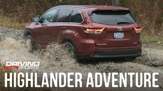2019 Toyota Highlander SE AWD On and Off-Road Review #drivingsportstv
