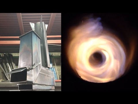 3次燃焼サイクロンロケットストーブ~Tertiary combustion vortex rocket stove~