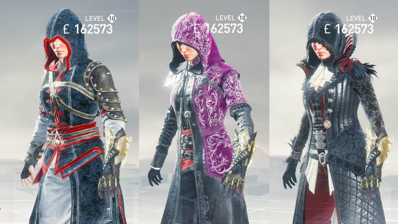 Evie Frye All Outfits Assassin S Creed Syndicate Youtube