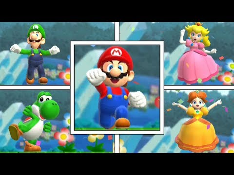 Super Mario Run: All Character's Flagpole Level Endings