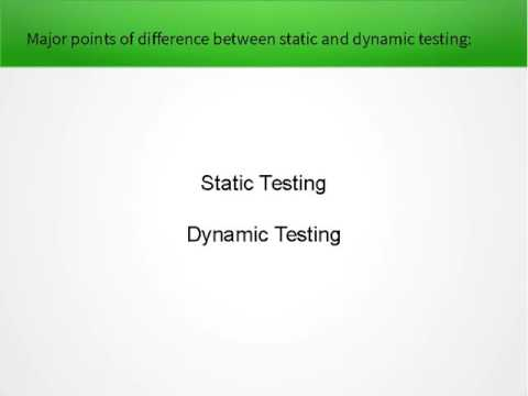 Static Testing Vs Dynamic Testing