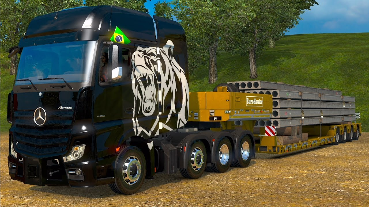 euro truck simulator 2 heavy cargo pack dlc jogando no. Black Bedroom Furniture Sets. Home Design Ideas