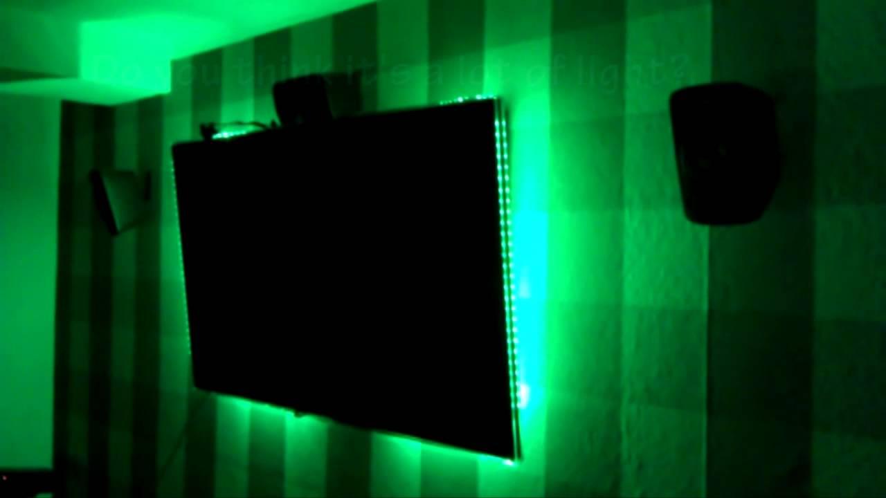 noninvasive ambilight  room led system arduino  tv
