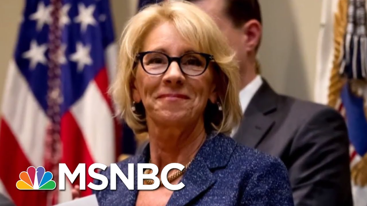 Betsy Devos Is Wrong About >> Betsy Devos Wants To Use Taxpayer Money To Put Guns In Classrooms Velshi Ruhle Msnbc