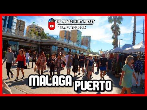 MALAGA city tour | Port of MALAGA | PUERTO - MUELLE UNO | Costa del Sol, Andalucia, Spain 4K