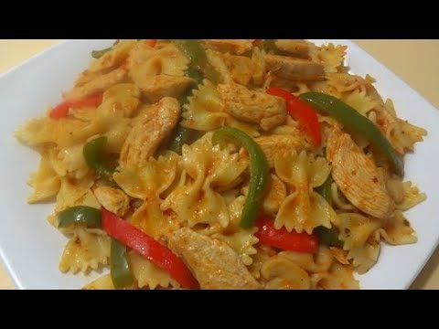 Macaroni With Chicken مکرونی با مرغ