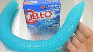 DIY Big Jello Worm Jelly Gummy Pudding Learn Colors Slime Clay Icecream
