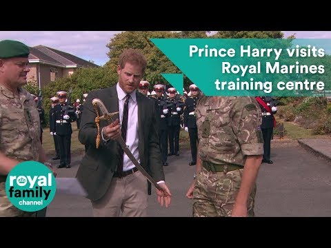 Prince Harry visits Royal Marines Commando Training Centre