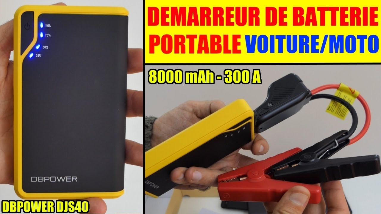 demarreur de batterie voiture dbpower djs40 moto amazon booster pour batterie plat youtube. Black Bedroom Furniture Sets. Home Design Ideas
