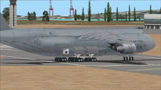 FSX US Airforce Lockheed C-5 Galaxy leaving Martinique