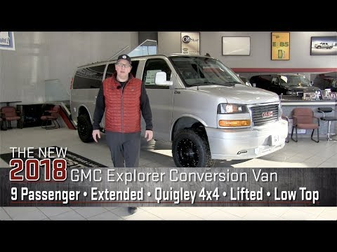 New 2018 Lifted Quigley 4x4 GMC Conversion Van | Extended Wheelbase | Explorer Van