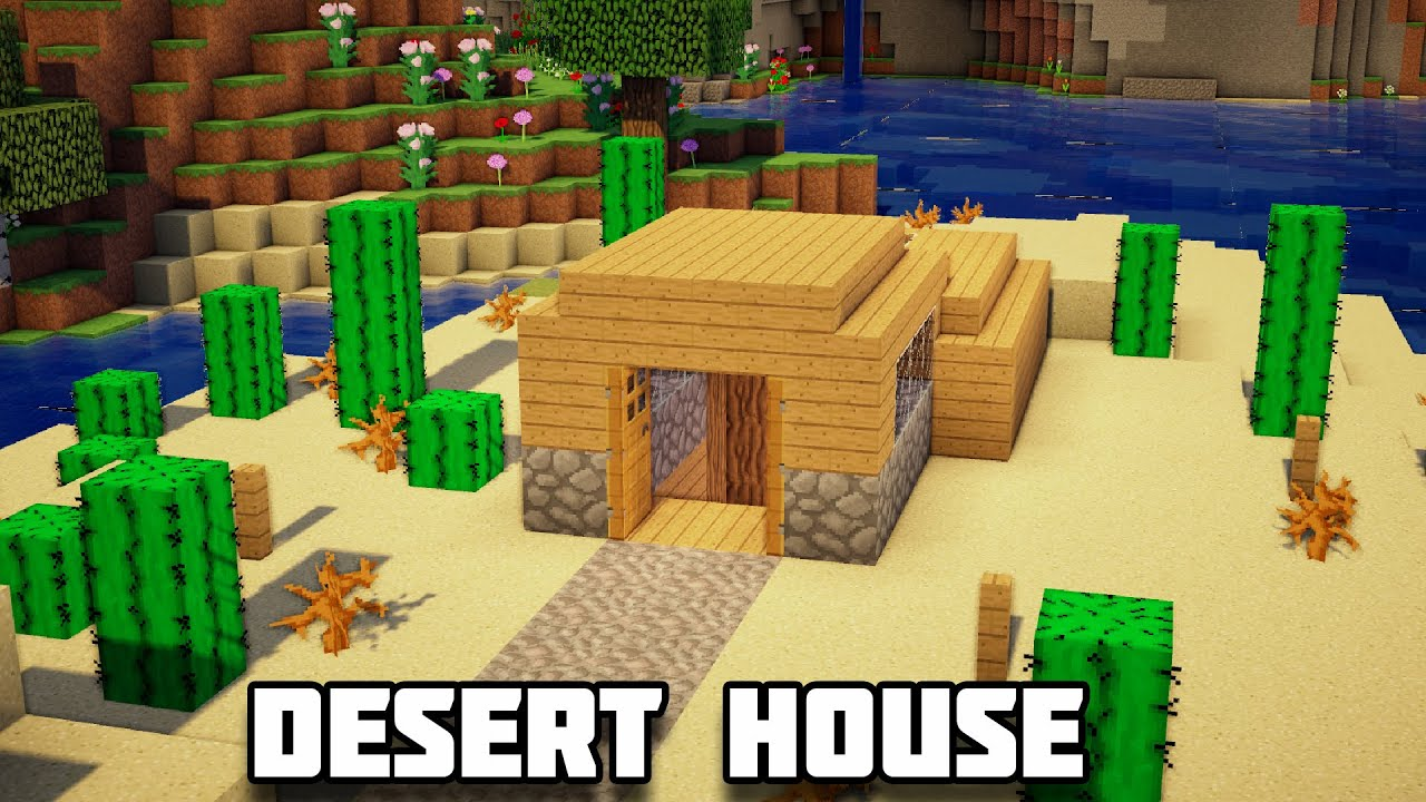 How To Make A Underground House Minecraft How To Build An Underground Desert House Youtube