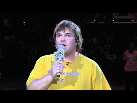 Jack Black Sings the National Anthem at Sparks Game