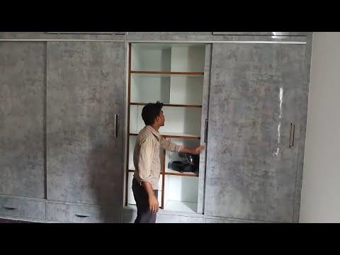 बेडरूम के लिए Sliding Wardrobe Design 12'x10' बेडरूम के लिए स्लाइडिंग अलमारी Sliding Wardrobe Delhi