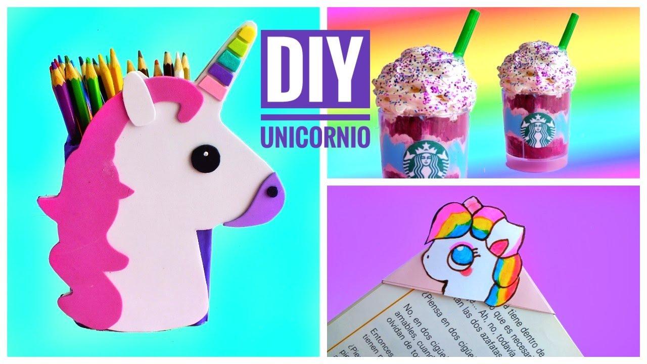 Diy material escolar de unicornio vuelta al cole youtube for Diy crafts youtube channels