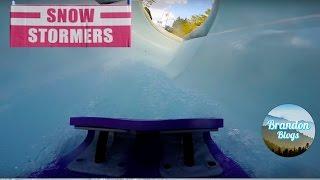 Snow Stormers Water Slide POV Disney