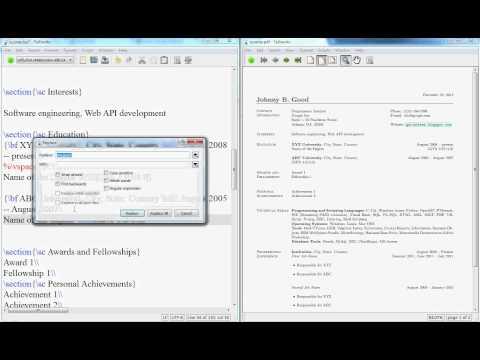 LaTeX Video Tutorials: LaTeX Video Tutorial: How to Create a Resume ...