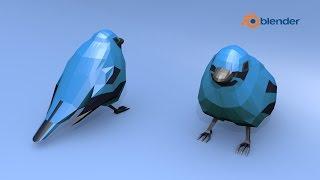 Blender Demo -- Low Poly Bird Speed Design