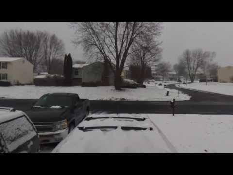 Drone View Of Snow In Liverpool, NY